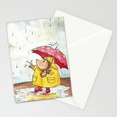 Rainy Day Hedgehog Stationery Cards