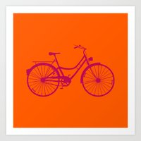 bicycle Art Prints featuring Bicycle by Mr and Mrs Quirynen