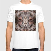 Petrified wood in abstract ... Mens Fitted Tee White SMALL