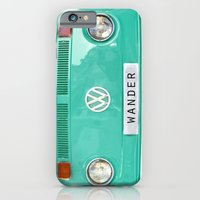iPhone Cases featuring Wander wolkswagen. Summer dreams. Green by Guido Montañés