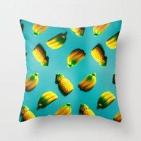 Ananas 'N Bananas Throw Pillow