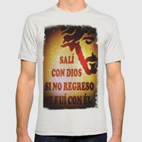 Sali con Dios Mens Fitted Tee Silver SMALL