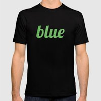 Blue Mens Fitted Tee Black SMALL