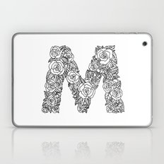 Floral Type - Letter M Laptop & iPad Skin