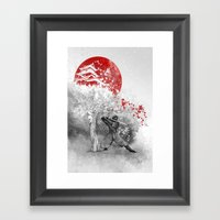 The Warrior And The Wind Framed Art Print