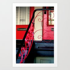 The Traditional Red Door… Art Print