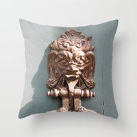 Lions Head Throw Pillow