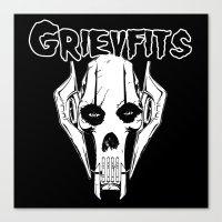 Grievfits (white) Canvas Print