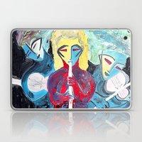 Three Blue Jazz Sisters Laptop & iPad Skin