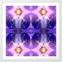 Astronaut Of Glass And L… Art Print