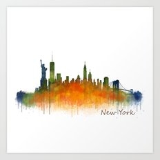 New York City Skyline Hq… Art Print