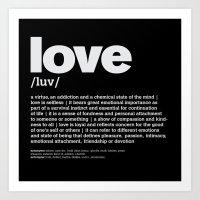 Definition LLL - Love 2 Art Print