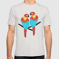 Cuban Macaw. Mens Fitted Tee Silver SMALL