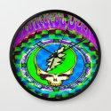 Grateful Dead #9 Optical Illusion Psychedelic Design Wall Clock