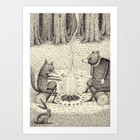 'Camp Fire' Art Print
