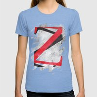 YEAR ONE Womens Fitted Tee Tri-Blue SMALL