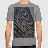 Skyscraper Abstract Mens Fitted Tee Athletic Grey SMALL