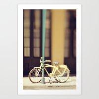 Yellow New Orleans Bicyc… Art Print