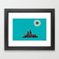 City Under Sun Framed Art Print