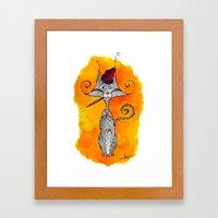 Dalí Cat Framed Art Print