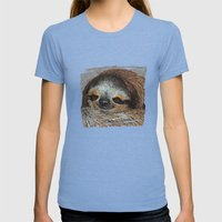 SLOTH LOVE Womens Fitted Tee Tri-Blue SMALL