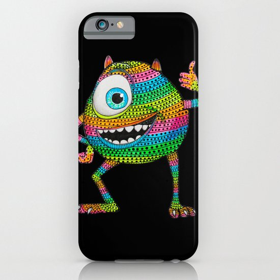 Mike Wazowski fan art by Luna Portnoi iPhone & iPod Case