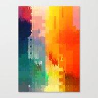 Canvas Print featuring DIGITAL GLITCH 3 by GlitchArt