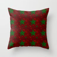 Christmas Red And Green … Throw Pillow