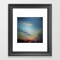 Dark Clouds File In When… Framed Art Print