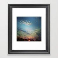 Dark Clouds File In When… Framed Art Print
