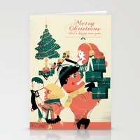 CHRISTMAS POSTCARD Stationery Cards