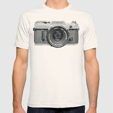 Vintage Camera Phone Mens Fitted Tee Natural SMALL