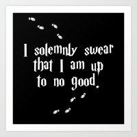 Solemnly Swear Art Print