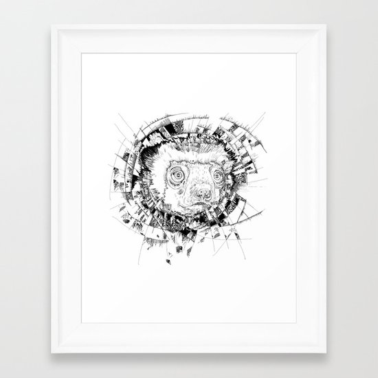HYPNOTIZED Lemur Framed Art Print