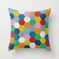 Honeycomb 2 Throw Pillow