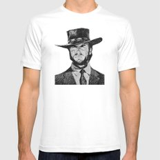 Blondie portrait #1 SMALL White Mens Fitted Tee