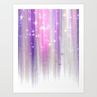 lights curtain a Art Print