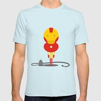 My ironing Hero! Mens Fitted Tee Light Blue SMALL