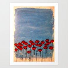 Sea of poppies. Art Print