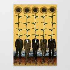 Sunflowers In Suits Print Canvas Print