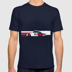 Moby Dick - Vintage Pors… Mens Fitted Tee Navy SMALL