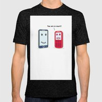 Smartphone evolution Mens Fitted Tee Tri-Black SMALL