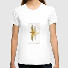 Vintage Dragonfly, Antique dragonfly, dragonfly, Insect, Natural Science Illustration, Natural Histo Womens Fitted Tee White SMALL