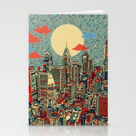 Stationery Cards featuring Philadelphia by Bekim ART