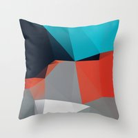 Peaceful eyes drawn away from me 02. Throw Pillow