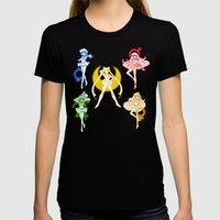 Sailor Scouts / Sailor M… Womens Fitted Tee Black SMALL