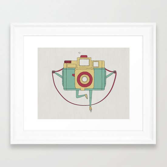 1, 2, 3, click! Framed Art Print