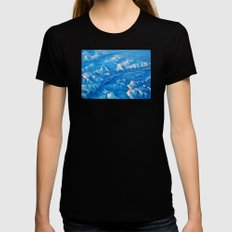 Earth V Womens Fitted Tee Black SMALL