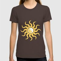 Yin yang sunshine Womens Fitted Tee Brown SMALL