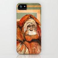 iPhone Cases featuring Mr. Orangutan by Sandra Dieckmann
